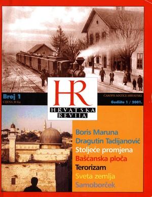 Hrvatska revija 1, 2001.