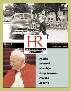 Hrvatska revija 1, 2006.
