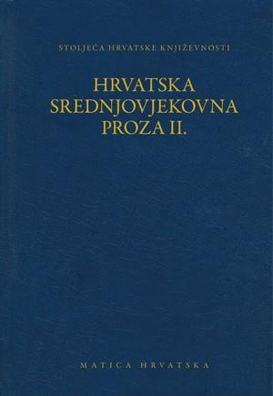 Hrvatska srednjovjekovna proza II.