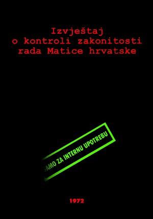 Izvještaj o kontroli zakonitosti rada Matice hrvatske