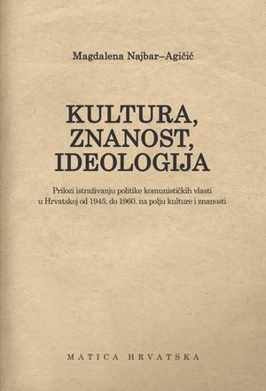 Kultura, znanost, ideologija