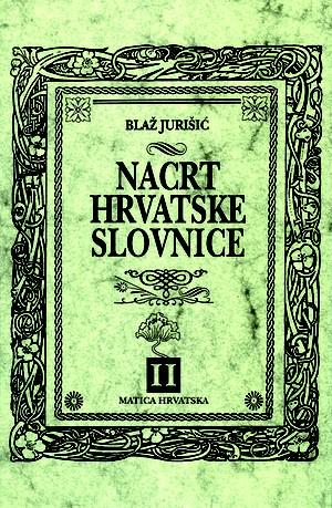 Nacrt hrvatske slovnice II.