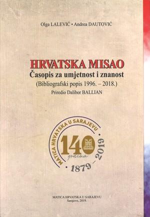 HRVATSKA MISAO - Bibliografski popis 1996. - 2018.